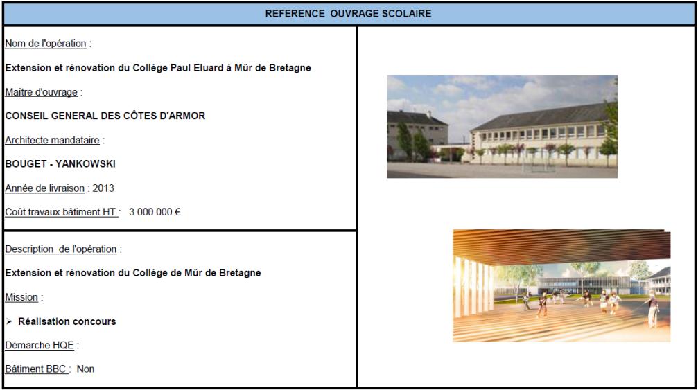 Extension et rénovation du Collège Paul Elouadriri à Mur de Bretagne