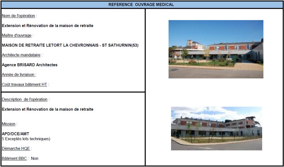 Extension et rénovation de la maison de retraite