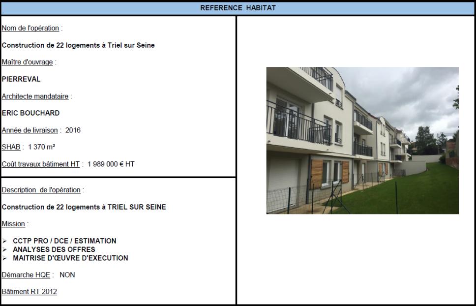 Construction de 22 logements à Triel sur Seine