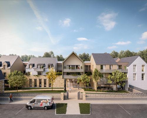 """Construction d'une RSS de 119 logements à DINAN"""" Les Jardins d'Ahna """""""