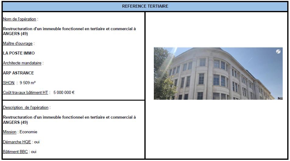 Restructuration d'un immeuble fonctionnel en tertiaire à ANGERS