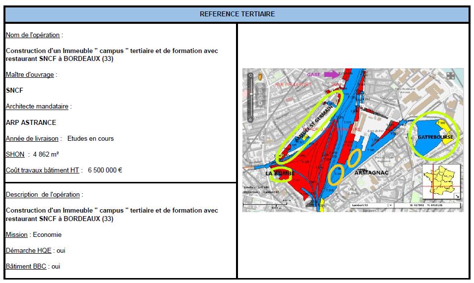 """Immeuble """"Campus"""" tertiaire & de formation avec restaurant SNCF à Bordeaux"""