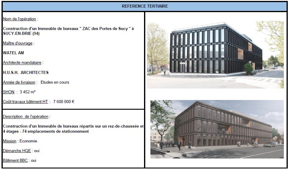 Construction d'un immeuble de bureaux à SUCY-EN-BRIE